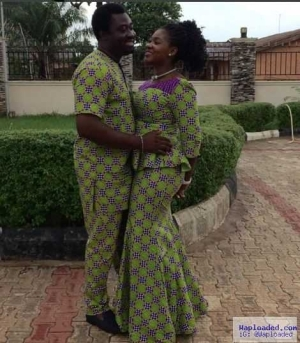 Mercy Johnson and Husband Steps Out In Matching Outfit